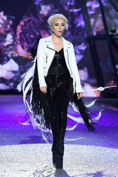 864cf7c9e7 Photo Lady Gaga is slaying at the 2016 Victoria s Secret Fashion Show! The  entertainer wore three looks as she hit ...