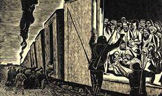 Deportation to Death (Death Train) by Leopoldo Mendez