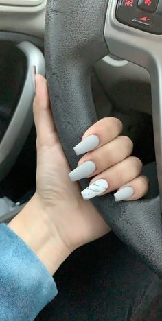 Light grey with marble matte acrylic nails coffin - Beauty - Nail İdeas Acrylic Nails Coffin Grey, Matte Maroon Nails, Beauty Nail, Acrylic Nail Designs, Blog, Grey Light, Short Nails, Acrylics, Marmor Nails