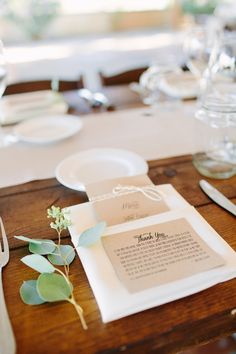 simple place settings, photo by Shane and Lauren Photography http://ruffledblog.com/romantic-wedding-meets-winery-chic #weddingideas #placesetting