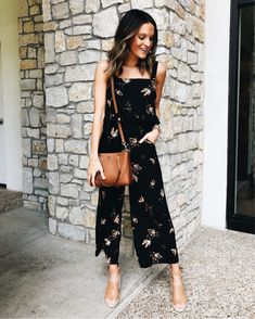 No clima da primavera: 10 looks com vestido floral - Guita Moda Miami Outfits, Casual Outfits, Sunday Brunch Outfit, Lauren Kay Sims, Girls Night Out Outfits, Skinny, Facon, Cotton Dresses, Everyday Fashion
