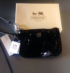 It is a beautiful day at Conshy Consignment!  Just in New Coach sequin wristlet $24 #coach