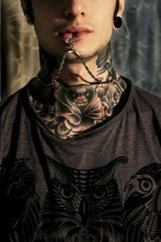 neck tattoo bat in a flower i think Weird Tattoos, Boy Tattoos, Body Art Tattoos, Neck Tattoos, Tatoos, Wicked Tattoos, Amazing Tattoos, Piercing Tattoo, I Tattoo