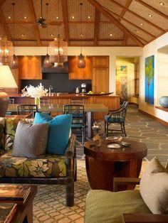 Dining Room Remodel Ideas Elegant Luxury Open Plan Ideas for Balinese Dining Room Remodeling Tropical House Design, Tropical Home Decor, Tropical Interior, Tropical Houses, Tropical Colors, Tropical Style, Ceiling Texture Types, Condominium Interior, Tropical Kitchen