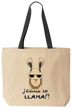 Como Se Llama Funny Cotton Canvas Tote Bag Reusable by BeeGeeTees BeeGeeTees http://www.amazon.com/dp/B00LPM915M/ref=cm_sw_r_pi_dp_VJuzvb0XJAYVM