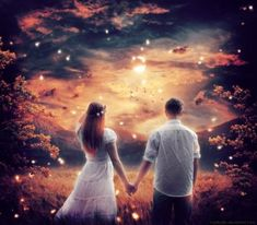 Couple by TopMystic on DeviantArt Message Sms, Fantasy Couples, Twin Souls, Love Dream, Look At The Stars, Disney Wallpaper, Pretty Pictures, Engagement Photos, Photo Wall