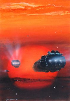 Official website of John Harris: landscape, science fiction and marine artist Space Fantasy, Sci Fi Fantasy, Interstellar, John John, Art Science Fiction, Pulp Fiction, Arte Sci Fi, 70s Sci Fi Art, Sci Fi Ships