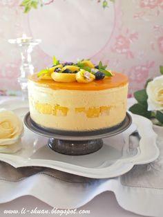 Mango Mousse Cake by Ioana Chis Mango Mousse Cake, Mango Cake, Baking Recipes, Cake Recipes, Dessert Recipes, Mango Recipes, Sweet Recipes, Just Desserts, Delicious Desserts