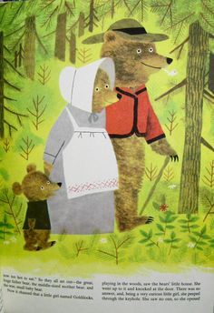 """Goldilocks & the Three Bears"" from Vintage Shirley Temple's Nursery Tales. Illustrated by J. P. Miller. 1961."