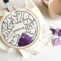 24 Ideas Embroidery Hoop Art Wall Hands For 2019 Embroidery Hoop Nursery, Embroidery Hoop Decor, Hand Embroidery Stitches, Embroidery Hoop Art, Hand Embroidery Designs, Cross Stitch Embroidery, Ribbon Embroidery, Hand Stitching, Diy Broderie