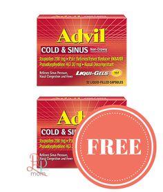 Coupon advil cold sinus