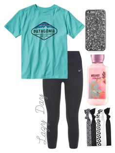 """Feeling Lazy- Emma//@emmaleeml"" by the-southern-belles ❤ liked on Polyvore featuring NIKE and Patagonia"