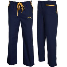 San Diego Chargers Unisex Navy Blue Solid Scrub Pants