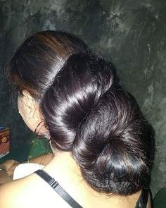 Bun Hairstyles For Long Hair, African Hairstyles, Super Long Hair, Big Hair, Beautiful Long Hair, Amazing Hair, Long Indian Hair, Long Hair Play, Big Bun