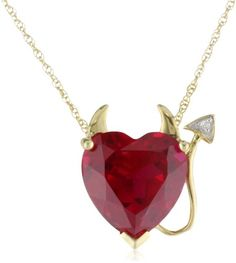 XPY 14k Yellow Gold Created Ruby Heart Devil Pendant with Diamond Accent, 18″ by Amazon Curated Collection - See more at: http://blackdiamondgemstone.com/jewelry/necklaces/pendants/xpy-14k-yellow-gold-created-ruby-heart-devil-pendant-with-diamond-accent-18-com/#!prettyPhoto