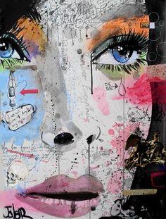 """Saatchi Online Artist Loui Jover; Mixed Media, """"speaking to yourself"""" #art"""