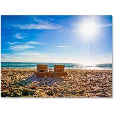 Trademark Fine Art Florida Beach Chair Canvas Art by Preston, Size: 24 x 32, Multicolor