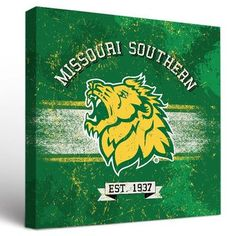 """Victory Tailgate NCAA Banner Vintage Design Framed Graphic Art on Wrapped Canvas Size: 24"""" H x 24"""" W x 1.5"""" D, NCAA Team: Missouri Southern State L..."""