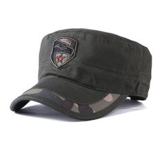 92e9a499538 Mens Winter Cotton Camouflage Military Five-Pointed Star Flat Hats Outdoor  Visor Forward Hat