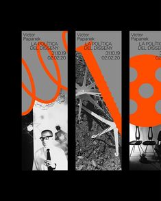 Graphic development for the new exhibition 'Victor Papanek: The Politics of Design' at the by in… Poster Sport, Poster Cars, Poster Retro, Sports Posters, Design Food, Web Design, Book Design, Layout Design, Print Layout