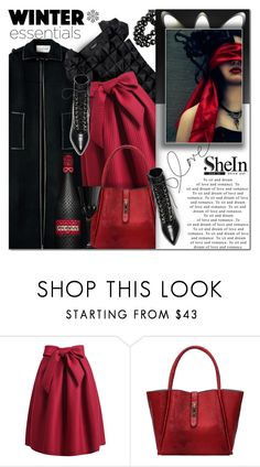 """SheIn 6"" by barbarela11 ❤ liked on Polyvore featuring Yves Saint Laurent, women's clothing, women's fashion, women, female, woman, misses, juniors, Winter and chic"