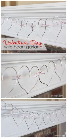 Easy Valentine's Day Garland: Wire Hearts - landeelu.com