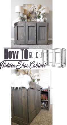 How To build a Hidden Storage Cabinet - DIY Woodworking Project Handmade Haven