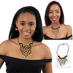 Adorn Yourself with the History of the Maasai These Maasai chokers are hand-beaded and woven together in an intricate display of African handiwork. Beading is very important in Maasai culture with the designs and colors each symbolizing different things l