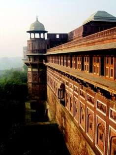The fort at Agra,India. The intricate detailing throughout is breathtaking