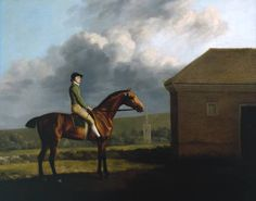 George Stubbs (1724‑1806), Title: Otho, with John Larkin up, ca. 1768. Otho was a bay colt foaled in 1760 by Moses out of Miss Vernon. He was bred and first owned by the Hon. Richard Vernon (1726-1800), a founder-member of the Jockey Club.