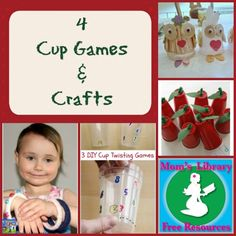 Games and Crafts with left over cups!