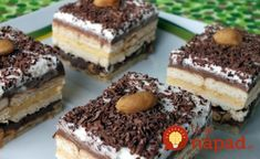 Recepty - Page 8 of 518 - Mňamky-Recepty. Chocolate Sweets, Italian Cake, Chocolate Delight, Czech Recipes, Hungarian Recipes, Eat Dessert First, Food Cakes, Homemade Cakes, Desserts