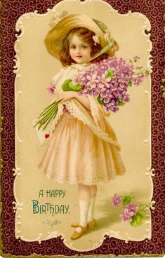 Are you looking for inspiration for happy birthday?Browse around this site for perfect happy birthday ideas.May the this special day bring you happy memories. Birthday Postcards, Vintage Birthday Cards, Vintage Greeting Cards, Vintage Valentines, Vintage Postcards, Vintage Images, Happy Birthday Art, Happy Birthday Best Friend, Happy Birthday Pictures