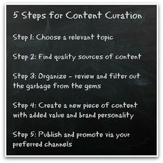 How to be a good content curator: only 5 small steps! This board is a result of working on these 5 steps in our learning trajectory. We are curious what you think about the results!