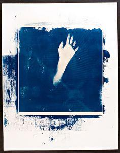 Cyanotype..photograph by Jessica Glass....#hand