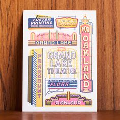Anna Hurley for Oakland Illustrated: A letterpress collaboration by The Weekend Press.