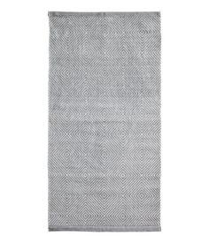 Mønstret gulvteppe i bomull | Grå | Home | H&M NO
