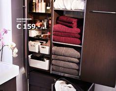 IKEA Bathroom cupboard. Lots of cupboard space to hide all your shampoos ;)