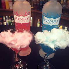 Martini Monday. Cotton candy KINKY cocktails for everyone!