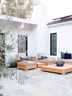 "In true California form, Maizel-Clarke and Pierson embraced the concept of indoor/outdoor living and brought in landscape architect Steve Siegrist—""a master of outdoor spaces,""..."