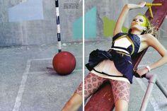 Glam and Sporty  Vogue Italia March 2010  Shot by: Craig Mc Dean  Fashion Editor: Tabitha Simmons  Model: Natasha Poly