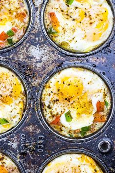Tex Mex Hash Brown Egg Cups |  Perfect party appetizer | Freezer-friendly & on-the-go breakfast