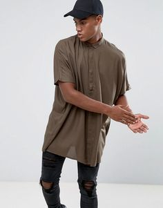 Get this Asos's oversized shirt now! Click for more details. Worldwide shipping. ASOS Oversized Viscose Shirt With Drop Shoulder In Khaki - Green: Oversized shirt by ASOS, Lightweight woven fabric, Spread collar, Concealed button placket, Wide cut to waist and hem, Oversized fit - falls generously over the body, Machine wash, 100% Viscose, Our model wears a size Medium and is 183cm/6'0 tall. ASOS menswear shuts down the new season with the latest trends and the coolest products, designed in…