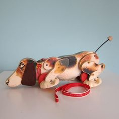 Vintage Fisher Price  Dog Pull Toy...I used to see my younger sister dragging this all over the house. ,Cute memory! :-)