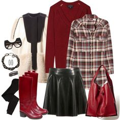 """""""When Trouble Came To Town - in red riding boots and bling"""" by riquee on Polyvore"""