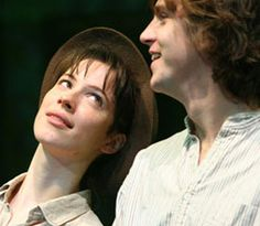 Rebecca Hall and Dan Stevens as Rosalind and Orlando in my favorite Shakespeare comedy