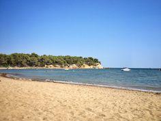Playa Es Niu Blau en Santa Eulalia del Río, Islas Baleares