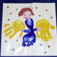 angel  art for kids - handprint calendar