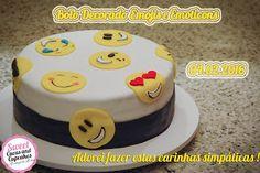 Sweet Cucas and Cupcakes by Rosângela Rolim: Bolo, Cupcakes e Alfajores Tema Emojis e Emoticons...