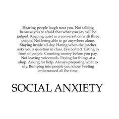 Social anxiety problem?